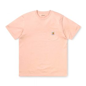 Now in stock the Carhartt WIP S/S Pocket T-Shirt. The Carhartt WIP S/S Pocket T-Shirt is constructed from cotton jersey. It features a single chest pocket, adorned with a woven Carhartt WIP label. Regular fit. I022091_08T_00 100% Cotton Single Jersey, 175 g/m² regular fit chest pocket square label on chest pocket Our stock holds the Powdery Pink and Zola Heather Green variants