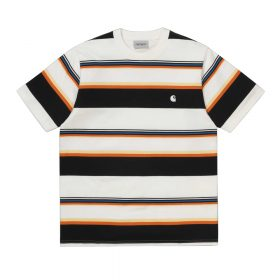 Now in stock the Carhartt S/S Sunder T-Shirt. The Carhartt WIP Short Sleeve T-Shirt Carhartt S/S Sunder T-shirt is a comfortable shirt, constructed from a cotton yarn dyed blend. I027743_D6_1A regular fit yarn dyed sports label The Carhartt S/S Sunder T-shirt is available in different sizes.