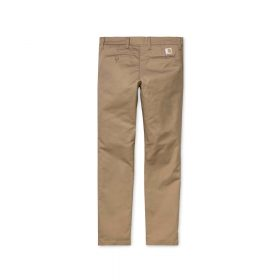 Now in stock the Carhartt WIP Sid Pant. The Carhartt Sid Pant is a cotton-blend twill chino pant with a slim cut. Constructed from our 'Lamar' stretch twill – a cotton-poly blend designed for comfort and ease of movement. It features two side pockets, bartack stitching at vital stress points, two reverse pockets and a stitched Carhartt 'C' logo label. I003367_8Y_02 46/38/16% Cotton/T400®/Polyester 'Lamar' Stretch Twill, 8.6 oz slim tapered fit, low waist bartack stitching at vital stress points square label zip fly