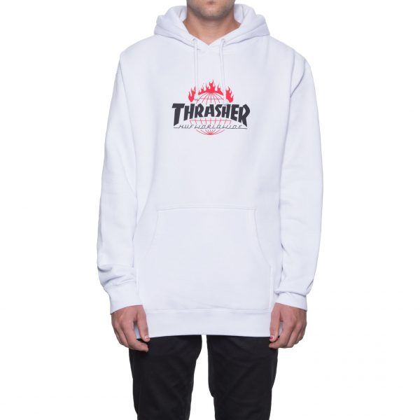 Huf X Thrasher Tour de Stoops Hood White